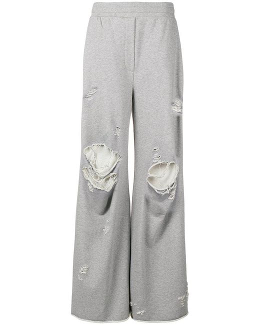 T By Alexander Wang distressed wide leg track pants Clearance Genuine ihyaNg4l