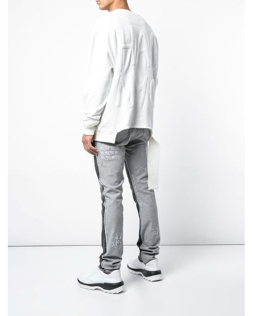 メンズ Haculla Nyc Destructed スウェットシャツ White