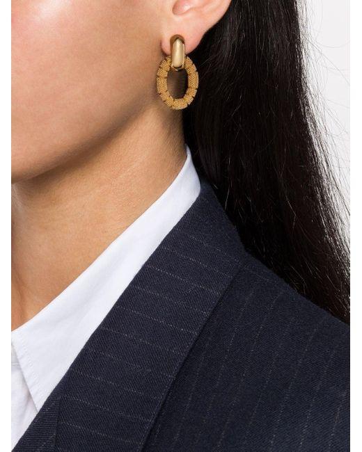 Dior 1980s ドロップ イヤリング Metallic
