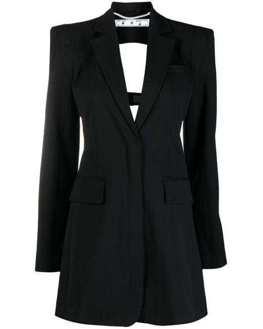 Платье-пиджак С Вырезом Off-White c/o Virgil Abloh, цвет: Black