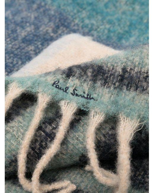 Paul Smith カラーブロック スカーフ Blue