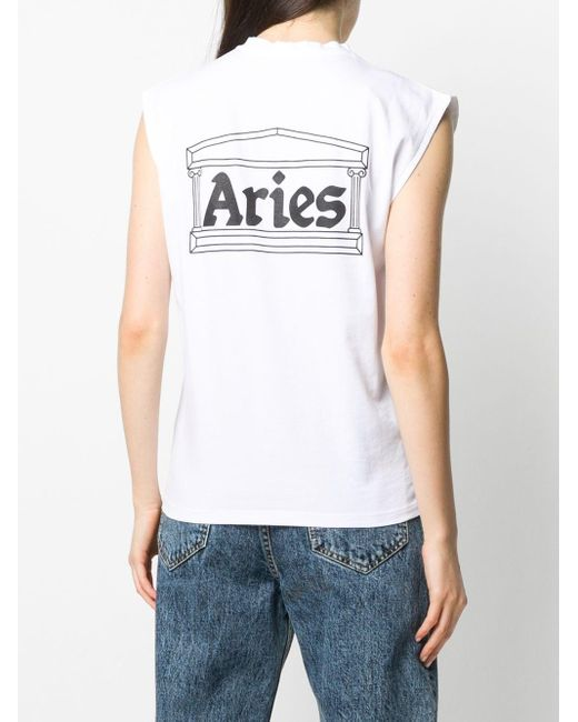 Aries ロゴ タンクトップ White
