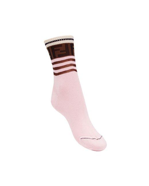 Fendi ロゴ靴下 Pink