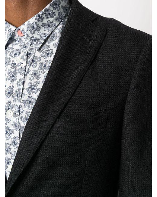 Фактурный Однобортный Пиджак Tonello для него, цвет: Black