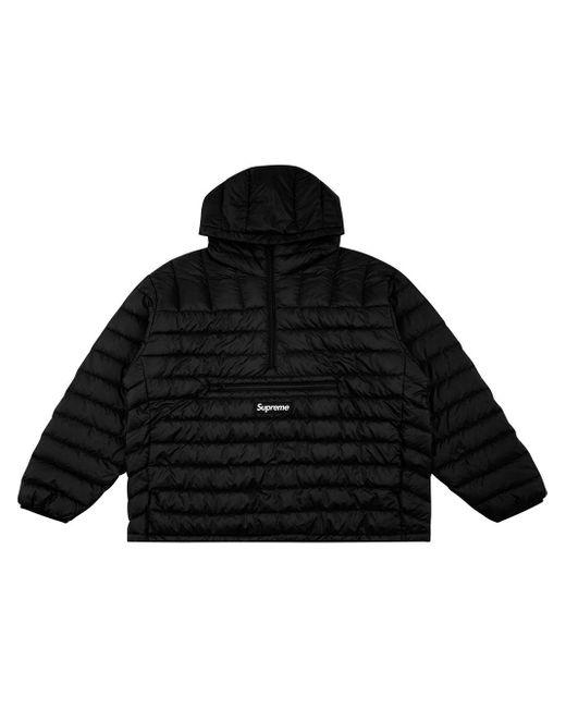 メンズ Supreme ハーフジップ フーデッドジャケット Black