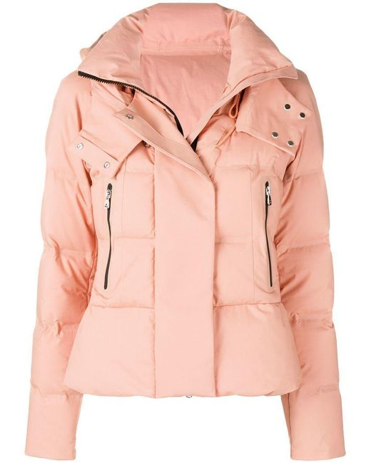 Peuterey - Pink Hooded Padded Jacket - Lyst