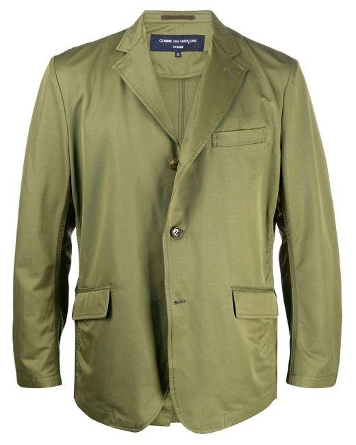 Comme des Garçons Green Single-breasted Tailored Blazer for men