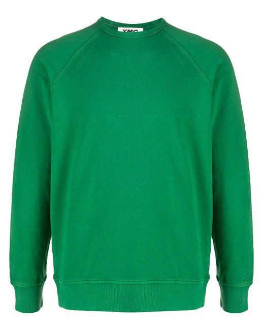 メンズ YMC クルーネック スウェットシャツ Green