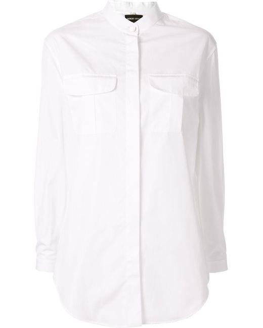 Camicia con tasche sul petto di Giorgio Armani in White