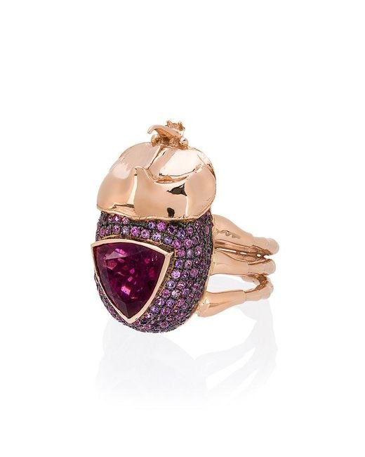 Daniela Villegas - Multicolor Medium Rhino Beetle Ring - Lyst