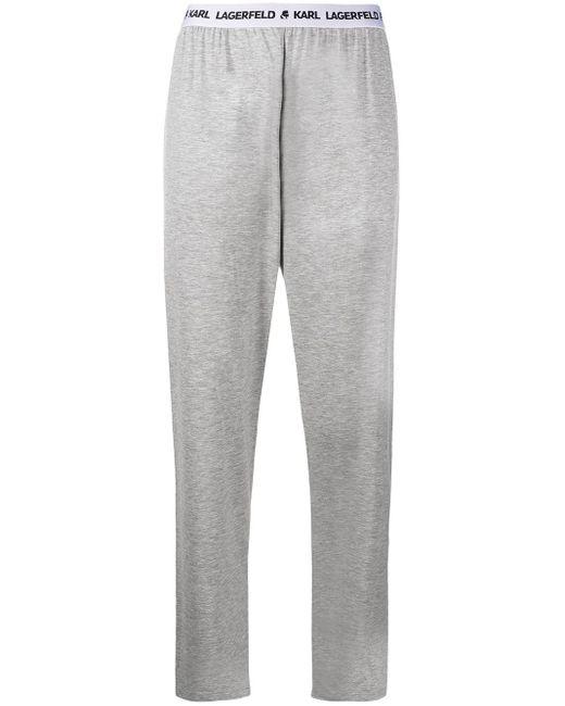 Karl Lagerfeld ロゴ パジャマパンツ Gray