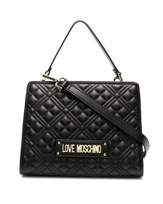Love Moschino キルティング ハンドバッグ Black