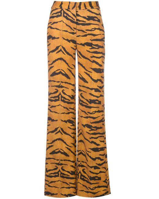 Adam Lippes タイガー ストレートパンツ Orange
