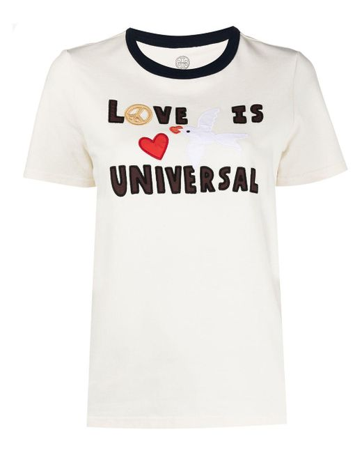 Tory Burch Love Is Universal Tシャツ White