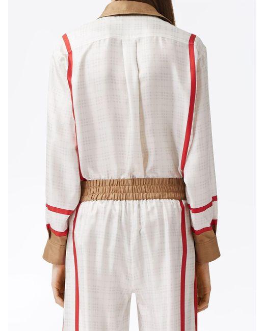 Рубашка С Принтом Archive Society Burberry, цвет: White
