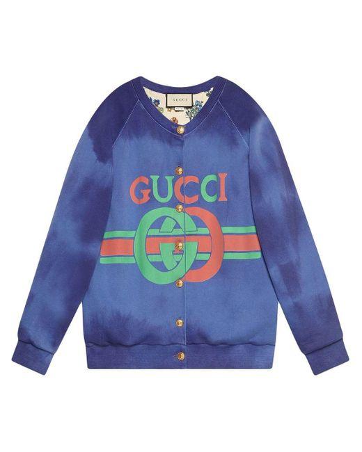 Gucci ロゴ スウェットシャツ Blue