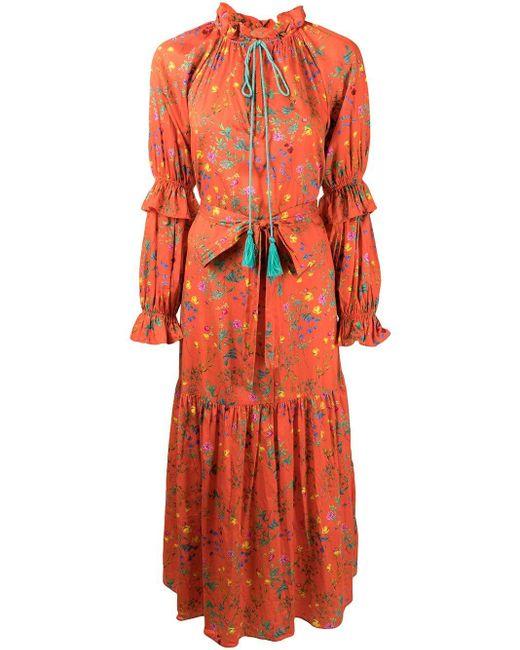 Cynthia Rowley Sanibel フローラル ドレス Orange