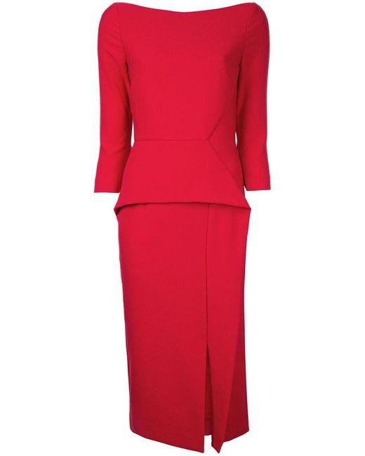 Roland Mouret | Red Ardingly Dress | Lyst