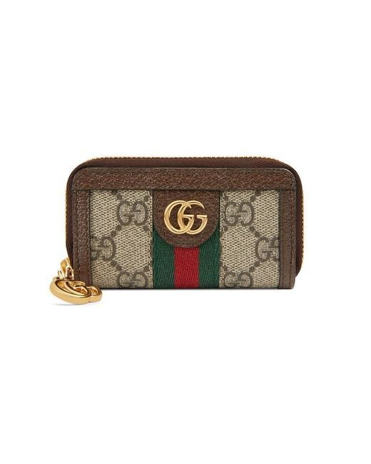 ba838381cbc7 Gucci - Brown Ophidia Gg Supreme Zip-around Key Case - - Lyst ...