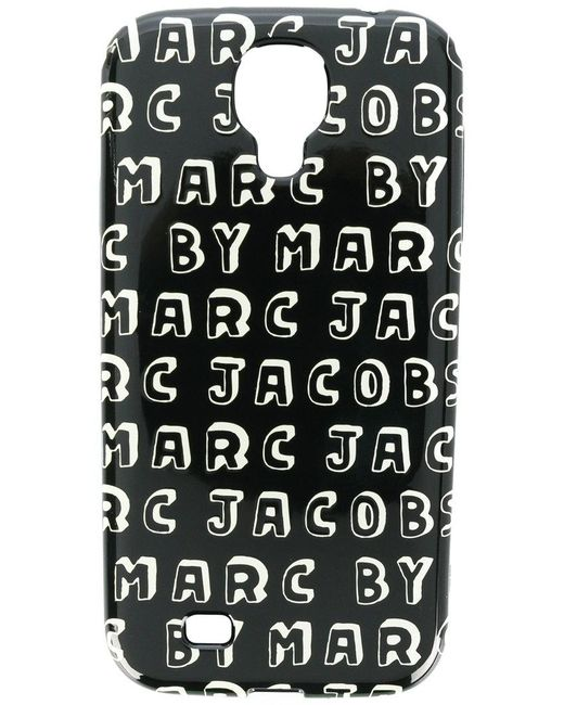Marc By Marc Jacobs - Black Logo Print Samsung Galaxy S4 Case - Lyst