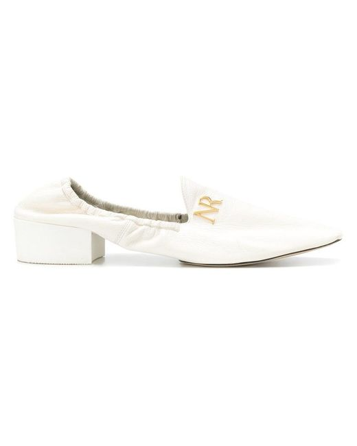 Nina Ricci - White Logo Plaque Loafers - Lyst