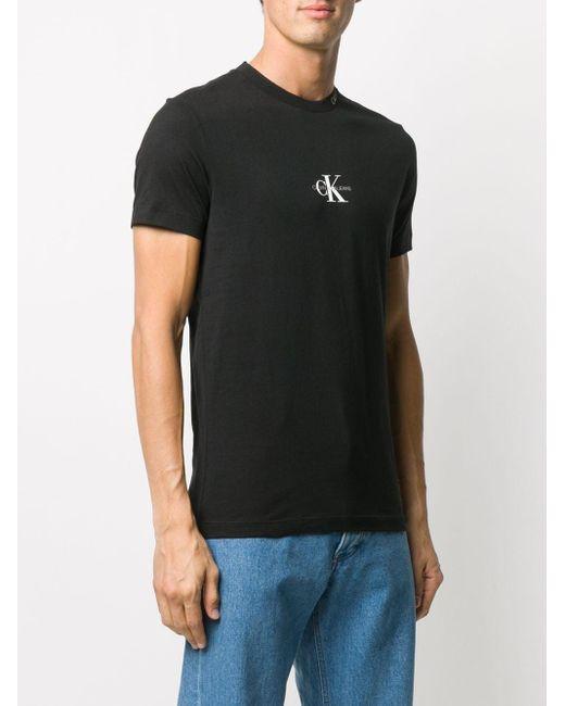メンズ Calvin Klein ロゴ Tシャツ Black