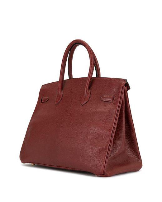 Hermès プレオウンド バーキン 35 ハンドバッグ Red