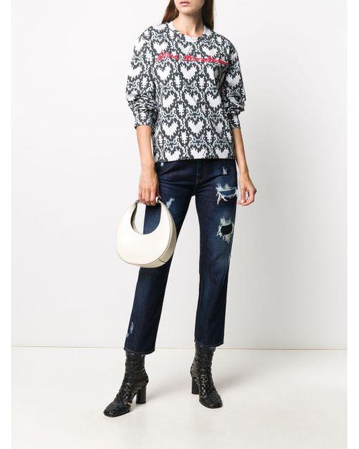 Love Moschino ハートロゴ スウェットシャツ Gray