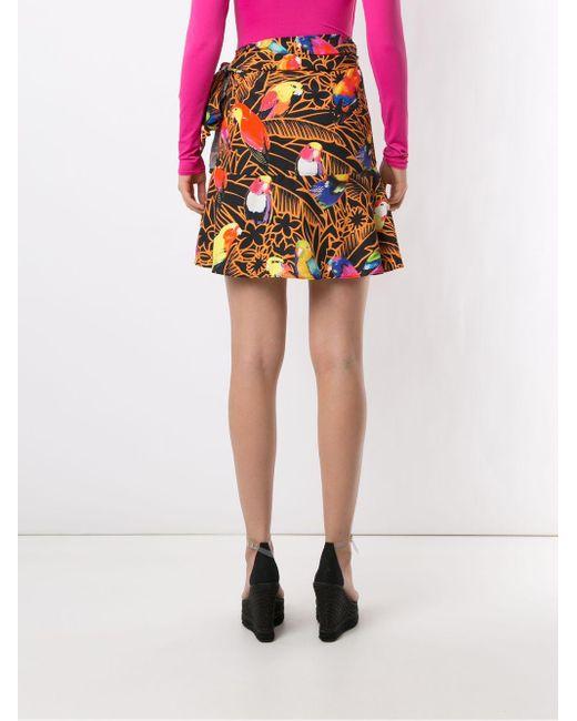 Юбка С Запахом И Принтом Amir Slama, цвет: Multicolor
