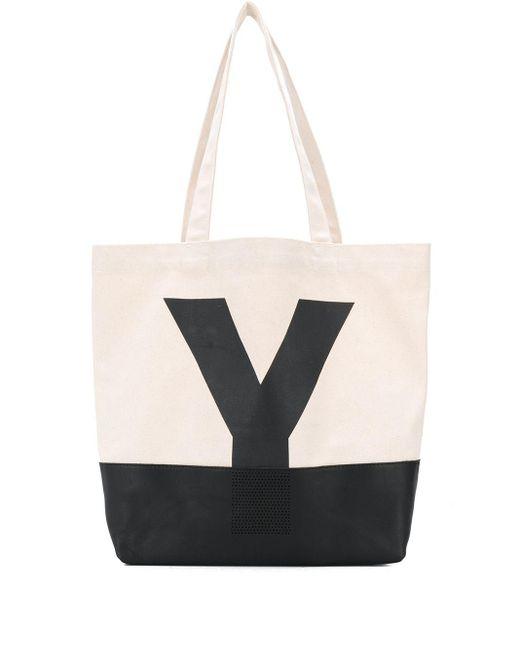 Y's Yohji Yamamoto ロゴ ハンドバッグ Multicolor