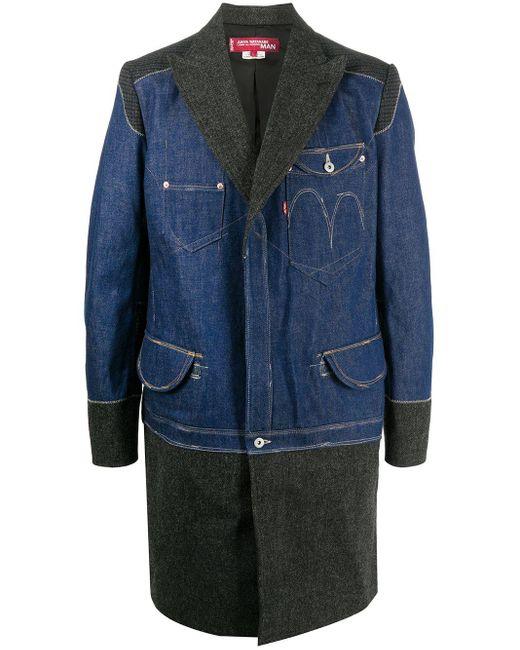 メンズ Junya Watanabe X Levi's デニムパネル コート Blue