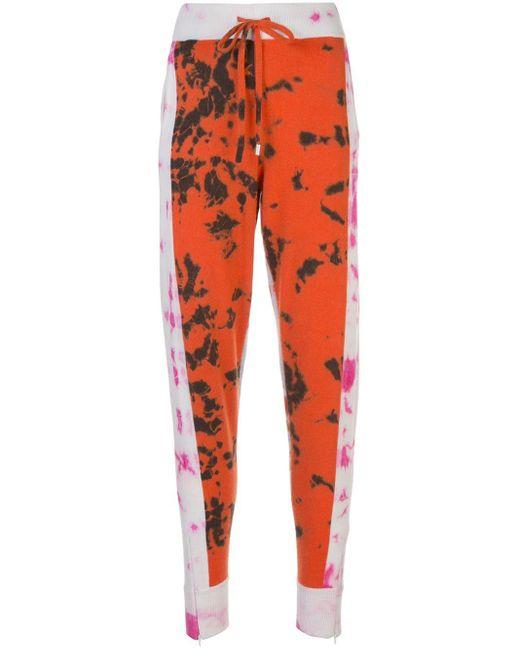 Zoe Jordan Orange Tie-dye Track Trousers