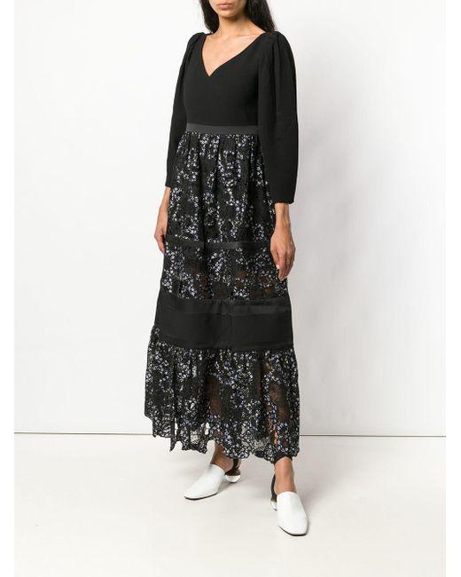 Three Floor Black Forest Long Dress
