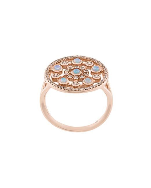 Astley Clarke Icon Nova ダイヤモンド&オパール リング 14kローズゴールド Multicolor