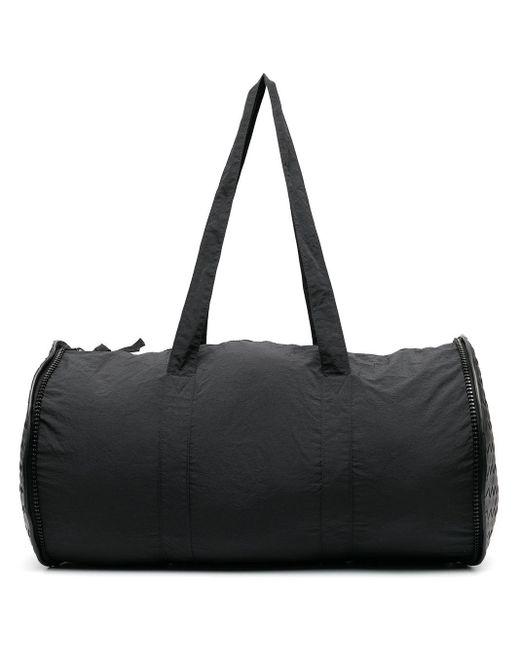 メンズ Bottega Veneta イントレチャート パネル ボストンバッグ Black