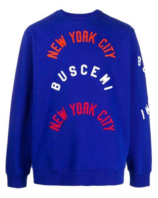 メンズ Buscemi ロゴ スウェットシャツ Blue