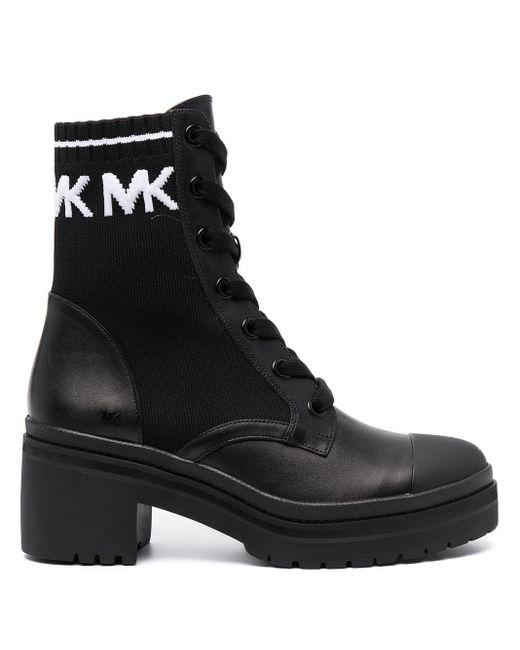 Michael Kors レースアップ ブーツ Black