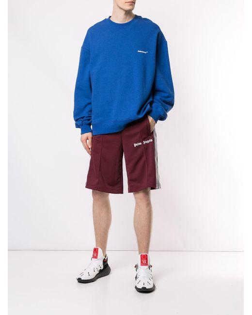 9cba55cf52 ... Palm Angels - Purple Stripe Trim Track Shorts for Men - Lyst ...