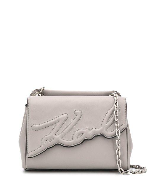 Karl Lagerfeld K/signature ショルダーバッグ S Gray