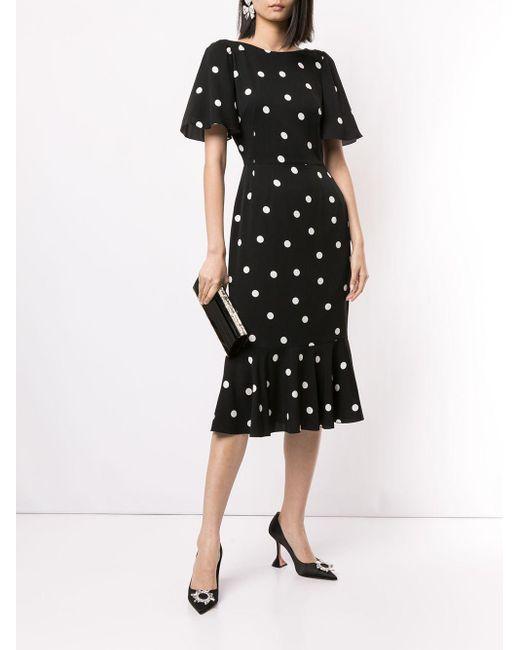 Платье В Горох Dolce & Gabbana, цвет: Black