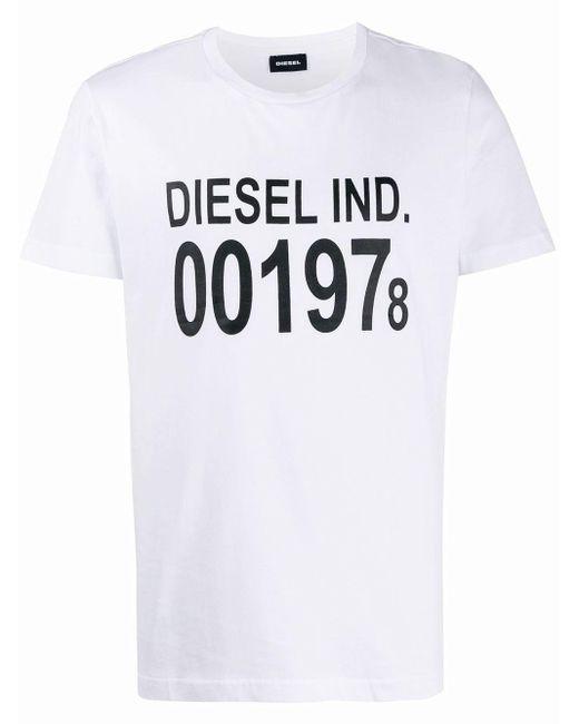 メンズ DIESEL T-diego ロゴ Tシャツ White