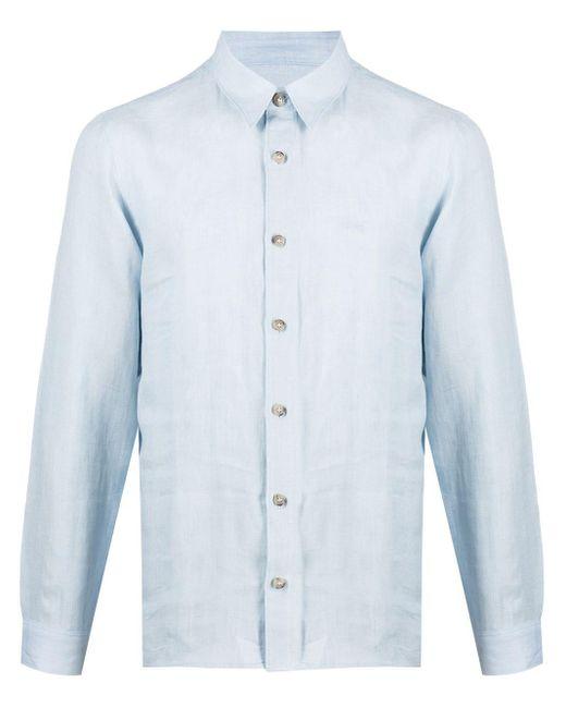 メンズ A.P.C. リネンシャツ Blue