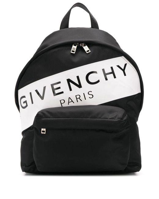 メンズ Givenchy ロゴ バックパック Black