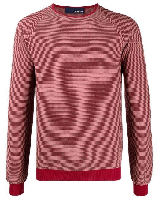 メンズ Lardini ファインニット セーター Red