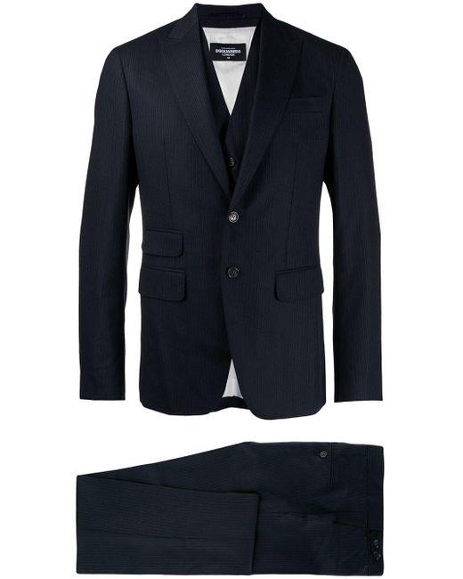 DSquared² Blue Three-piece Suit for men