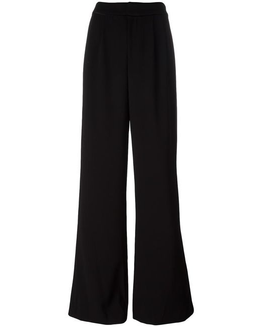 Alice + Olivia | Black Wide-legged Tailored Trousers | Lyst