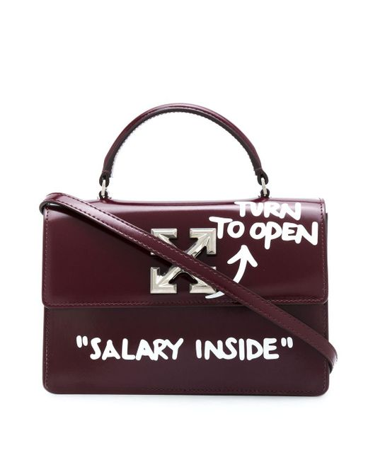 Off-White c/o Virgil Abloh Red 1.4 Jitney Schultertasche