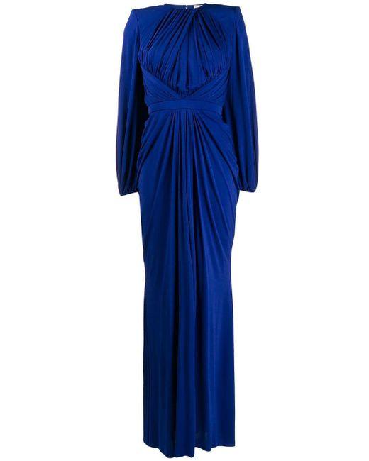 Alexander McQueen ギャザードレス Blue