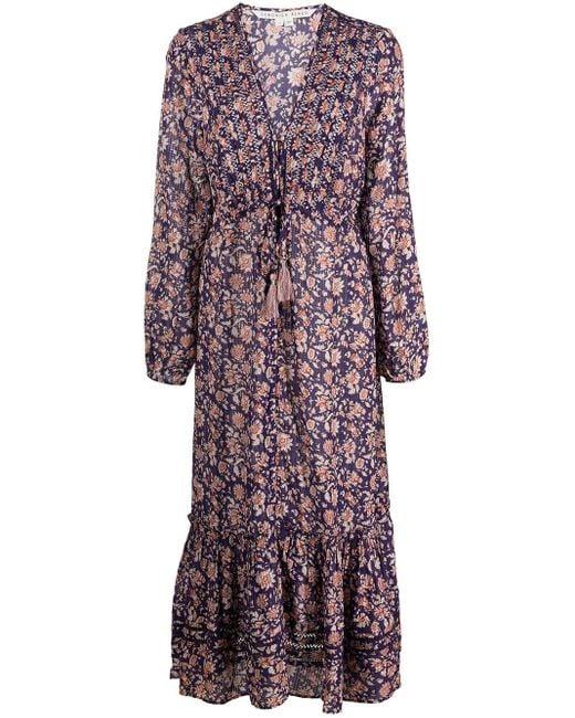 Veronica Beard Multicolor Floral-print Midi Dress