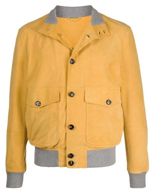 メンズ Eleventy ボンバージャケット Yellow